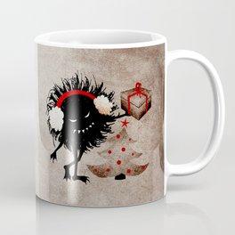 Evil Bug Gives Christmas Present Coffee Mug
