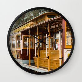 San Francisco Cable Car Wall Clock