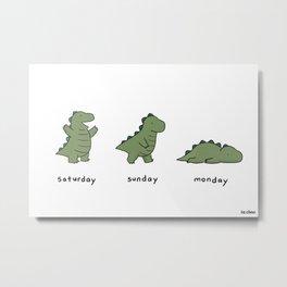 Monday Metal Print