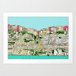 Bonifaccio in Corsica Art Print
