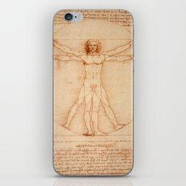 Vitruvian Man (Uomo Vitruviano) Leonardo da Vinci iPhone Skin