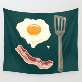 bacon & eggs, jungle green Wall Tapestry