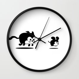 The Endless Cat and Mouse Chase Wall Clock