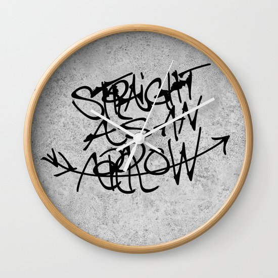 »—A-R-R-O-W—> Wall Clock