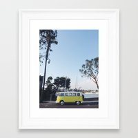 vw bus Framed Art Prints featuring VW Bus by Meghan