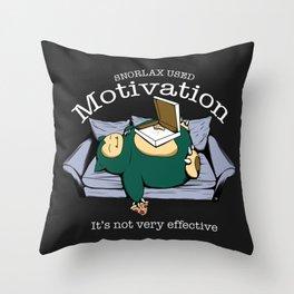 Nerd Motivation: it's not very effective Throw Pillow