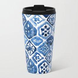 Arabesque tile art Metal Travel Mug