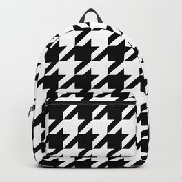 Houndstooth pattern, geometric monochrome Backpack