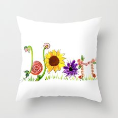 Bloom! Throw Pillow