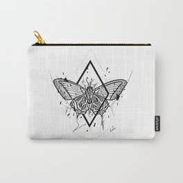 Butterfly Handmade Drawing, Made in pencil and ink, Tattoo Sketch, Tattoo Flash, Blackwork Carry-All Pouch
