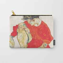 Egon Schiele Female Model in Red Robe 1914 Carry-All Pouch