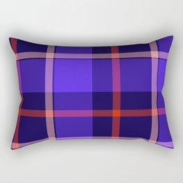 Blue Tartan Print Rectangular Pillow