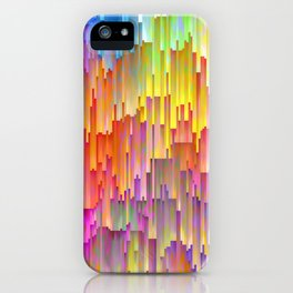 Vibrant Rainbow Cascade Design iPhone Case