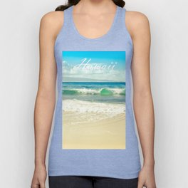 Hawaii Graphic Tropical Beach Decor Unisex Tank Top
