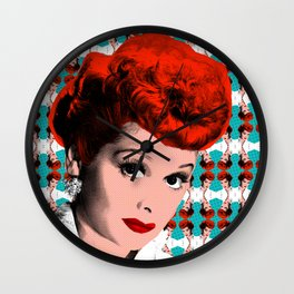 """Classic Queens - Lucy Ricardo """"I Love Lucy"""" Wall Clock"""
