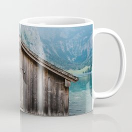 Cottage in a misty lake Coffee Mug