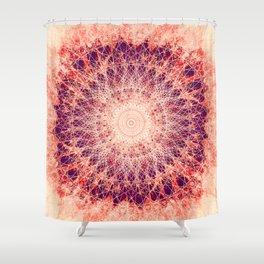 Apricot Mandala Shower Curtain