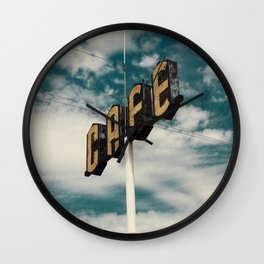 Roadside CAFE sign  Wall Clock