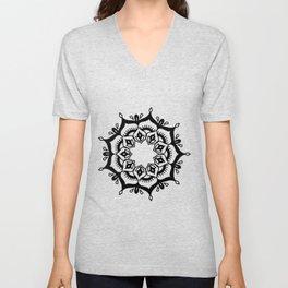 Mandala: hand-drawn Unisex V-Neck