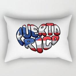 Puerto Rico Heart - Boricua Love Rectangular Pillow