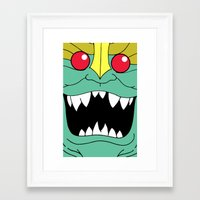 thundercats Framed Art Prints featuring Mumm-Ra - Thundercats by Dukesman