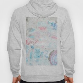 Abstract hand painted pink teal aqua  watercolor marble Hoody