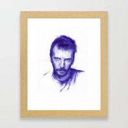 Mathieu Kassovitz on ballpen Framed Art Print