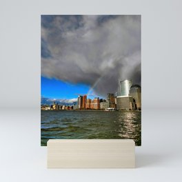 Lower Manhattan Rainbow Mini Art Print
