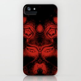 Malek by the Tree with Serpent, Red iPhone Case
