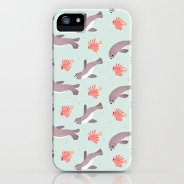 Sea lion & Lionfish iPhone Case