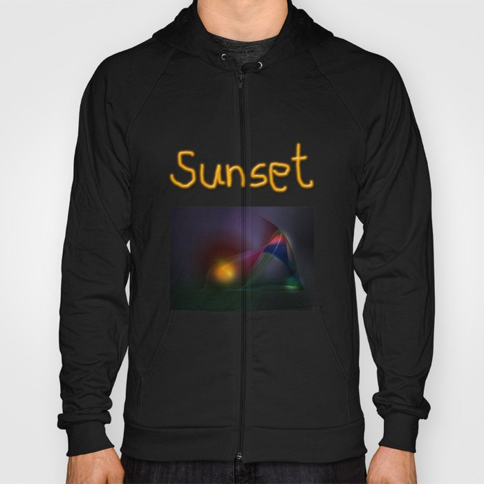 Sunset abstract Hoody