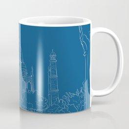 Blue Taj Mahal Drawing Coffee Mug