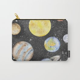 Watercolor Planets Carry-All Pouch