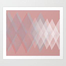 Pink Pastels  Art Print