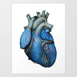 Blue Heart Art Print