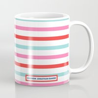 stripe Mugs featuring Stripe by Andrew Jonathan Baker