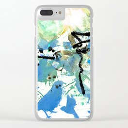 Asemic 4 Clear iPhone Case