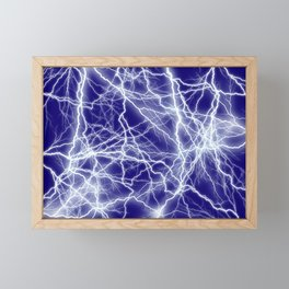 Electrical Lightning Sparks Framed Mini Art Print