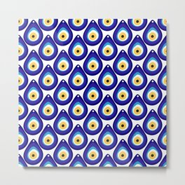Evil eye protection pattern Metal Print