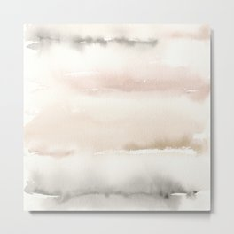 Origin Neutral Watercolor Wash Metal Print