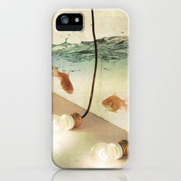 ideas and goldfish iPhone Case