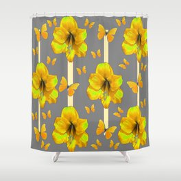 "AMARYLLIS ""  LOVE OF BUTTERFLIES""   DECO Shower Curtain"