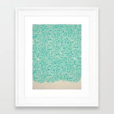 Abstract Pattern – Turquoise Framed Art Print
