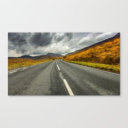 Winding Welsh Road Canvas Print