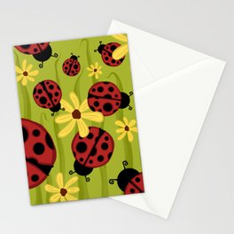 Lady Bugs Stationery Cards