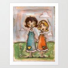 A Childhood Shared - Sister Art Art Print