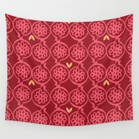 pomegranate Wall Tapestries featuring pomegranate by ottomanbrim