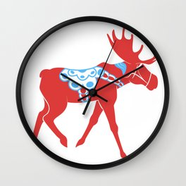 Dala Moose Wall Clock