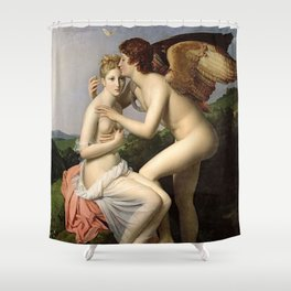 CUPID KISSING PSYCHE - FRANCOIS GERARD  Shower Curtain