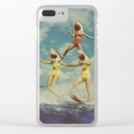 On Evil Beach - Sharks Clear iPhone Case
